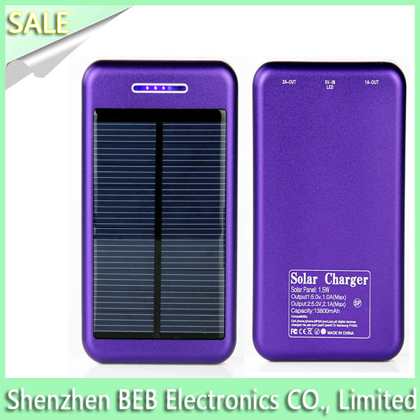 CE approved solar mobile charger for iphone 6 plus