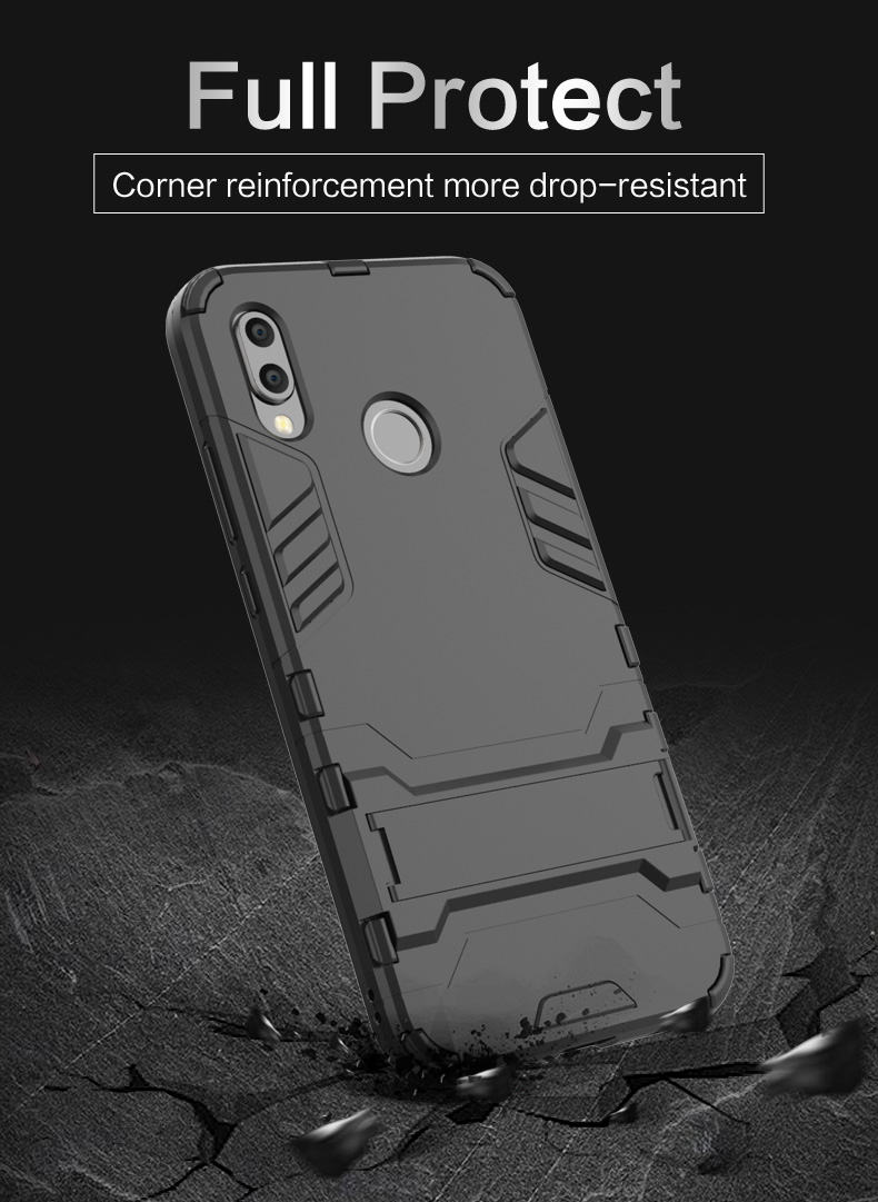 Ultra Thin Design Kickstand Shockproof PC TPU Smartphone Case Cover For Xiaomi Mi A3 Back Cover