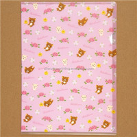 High quality cheaper pretty custom image and logo printing A4 pp plastic clear flat file folder