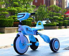 chinese supplier portable folding baby tricycle/flashing folding tricycle for kids/cheap music baby tricycle kids trike
