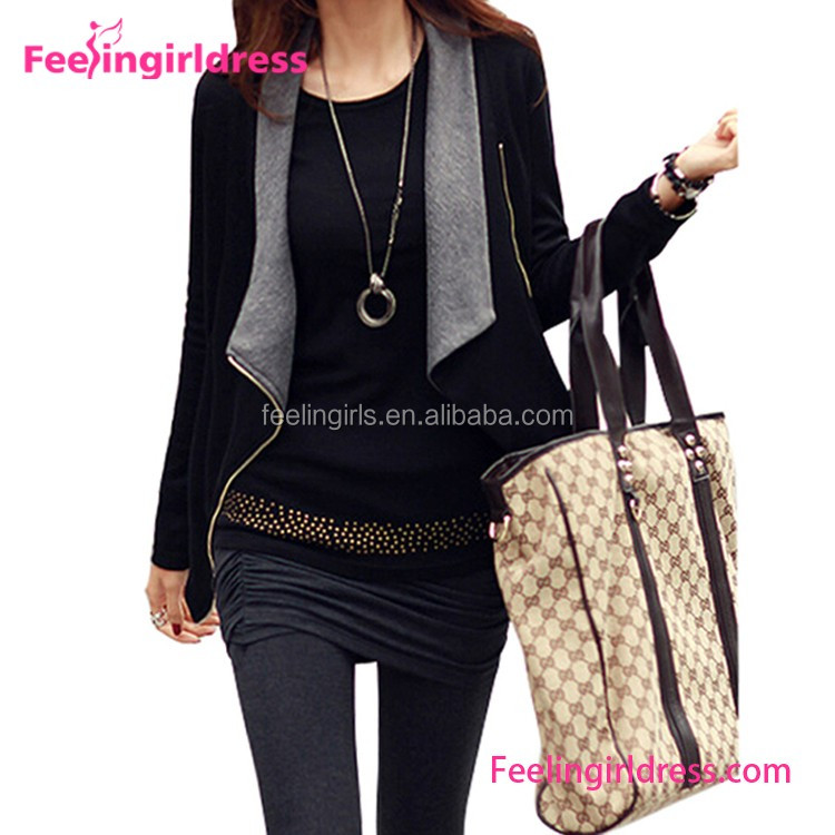 Paypal accepted khaki belt decoration XL XXL latest fashion blouse design