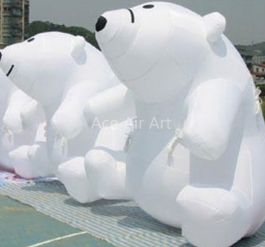 Free shipping Solid color lovely inflatable Polar bear park decoration