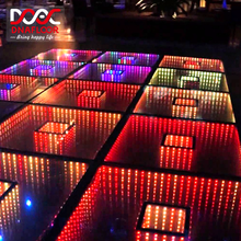 Wholesale led display mirror dance floor/led 3d dance floor material foraliexpress car show