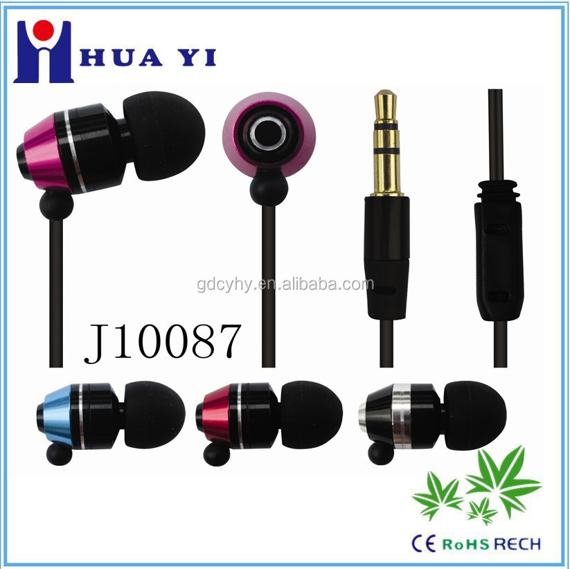 go pro China wholesale earphone metal earbud OEM in-ear earphone with 3.5mm for music