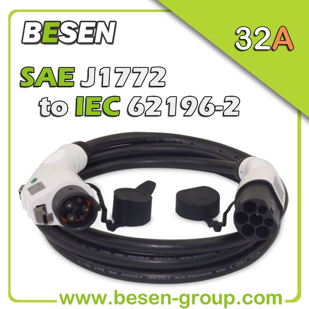 32A SAE J1772 Power Cable Connector / Type 1 EV Charger Leads