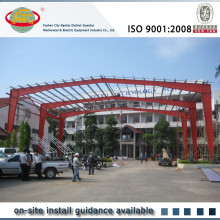 Seismic resistant portal frame free span light structure roof design