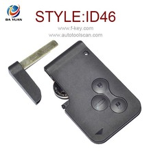 AK010002 Universal Car Key Blanks for Renault Megane Smart Key 3 Button 433MHz with ID46 transponder inside