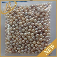 AAA multicolor rice nature freshwater loose pearls no holes