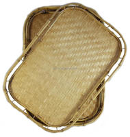 Hot Sale Hotel Deocr Rattan Bamboo Tray