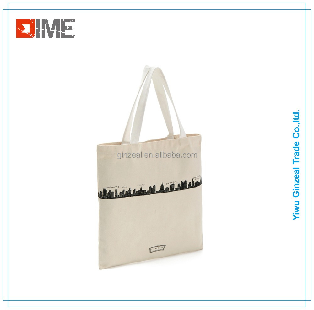Printed Anime Fashion Cotton Customized Canvas Tote Foldable Shopping Bag