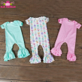 Wholesale Cotton Jumpsuit Newborn Bodysuits Romper Sweet Girls Clothes Ruffle Romper