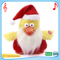 Santa hat dancing chicken with custom songs christmas musical toys