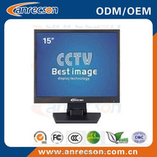 Metal box and professional 15 inch LCD monitor with industrial grade