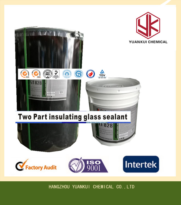 Fast production boiling type Two-part glass silicone sealant for laminating film