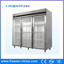 kitchen equipment Stainless steel vertical hiller industrial size freezers deep freezer for hotel kitchen with high quality