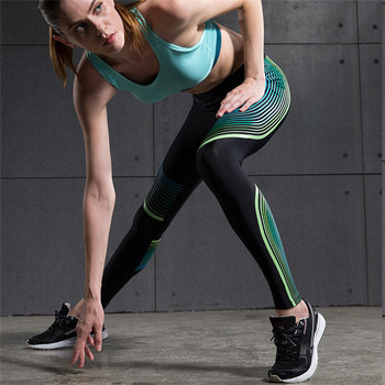 RIGWARL Mermaid Curve GYM Woman Fitness Leggings Power Speed Yoga Trousers Running Pants Colorful Streak Elastic Sports Legging