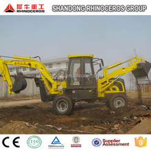 backhoe loader type and wheel loader moving type trench digger