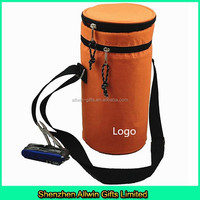 Insulated water bottle cooler bag with adjustable handle
