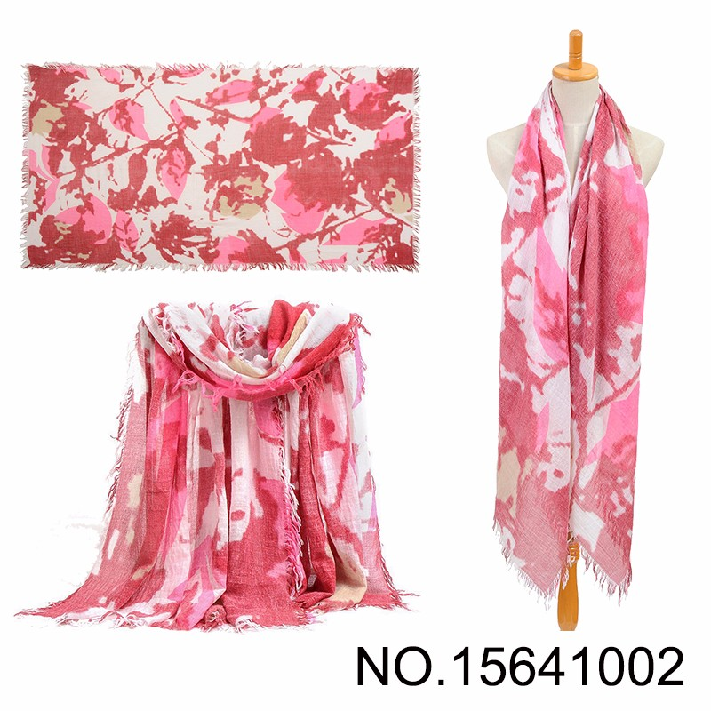 Soft Autumn Marble Print Viscose Scarf