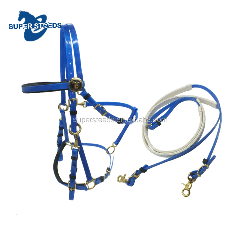 Waterproof PVC endurance halter bridles with rein
