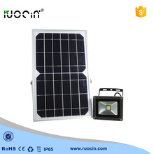 Solar panel wall or pole mounted led floodlights 10w with IP65