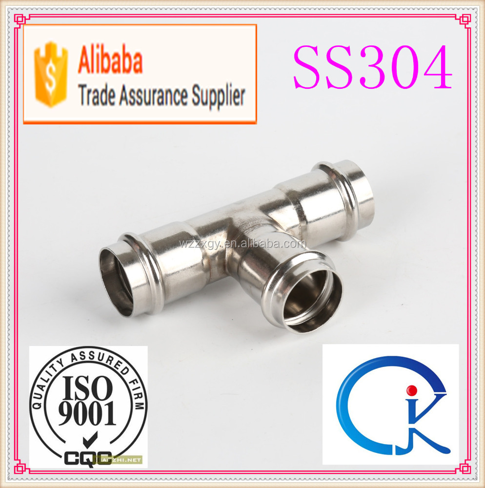 Stainless Steel Long Radius Tee Pipe Fitting