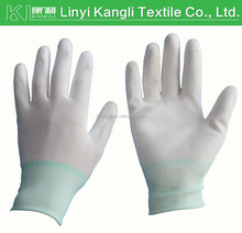 PU coated nylon knitted hand work safety gloves