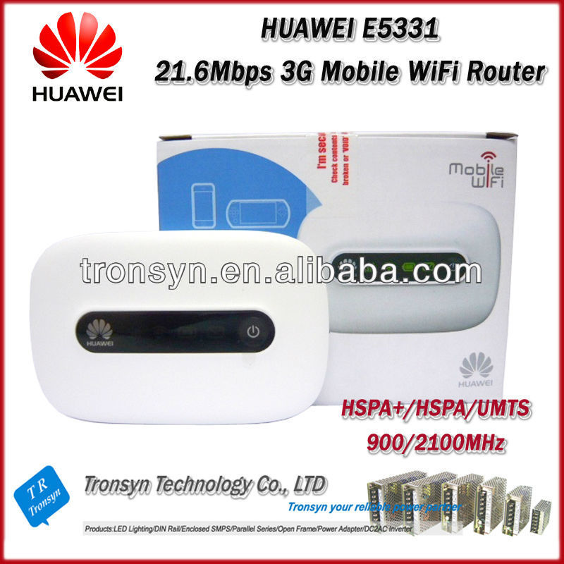 New Original Unlock HSPA+ 21.6Mbps E5331 3G Pocket Mobile Hotspot And 3G WiFi Router