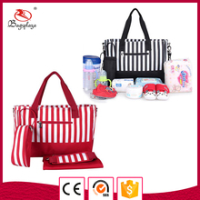 Alibaba china stripe pattern bag large capacity tote bag nylon handbag