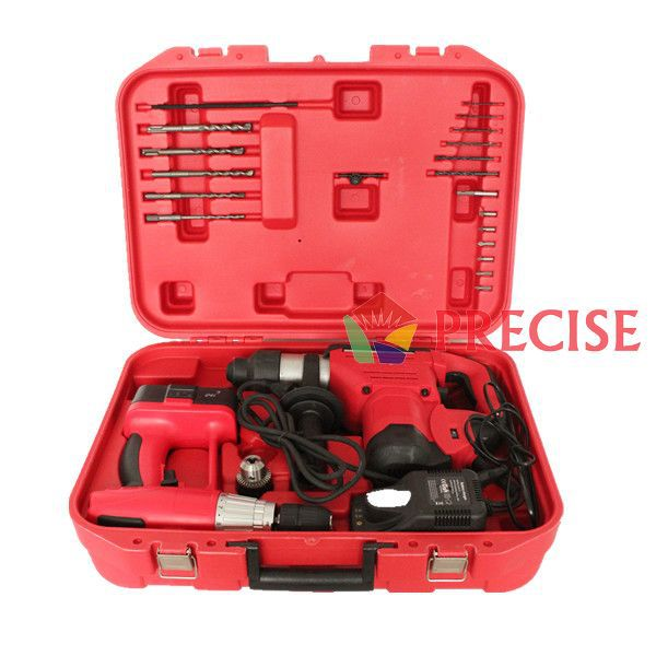 CE/GS 24V Impact Function Cordless Drill and Electric Hammer Power Tool Set