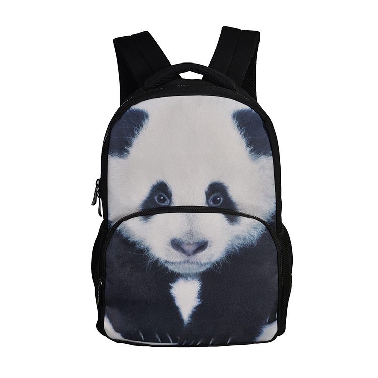 Stylish panda printed wholesale brand new design daypack school back pack men's backpack bags