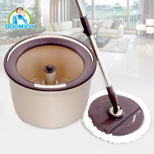 Innovative big plate single bucket magic wet & dry spin mop