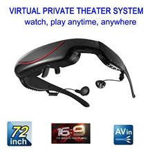 72 inch Virtual Display Video Glasses 4GB Portable Eyewear AV Wide Screen EDV320A