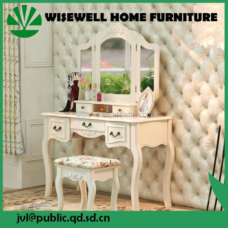 (W-HY-078) french wooden dressing table with cupboard