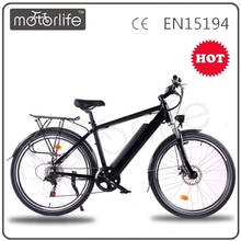 MOTORLIFE/OEM Best selling 36v 350w 28 inch electric mountain bike,black ebike,sport ebike