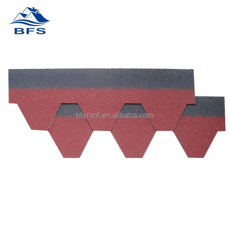coloured asphalt shingles