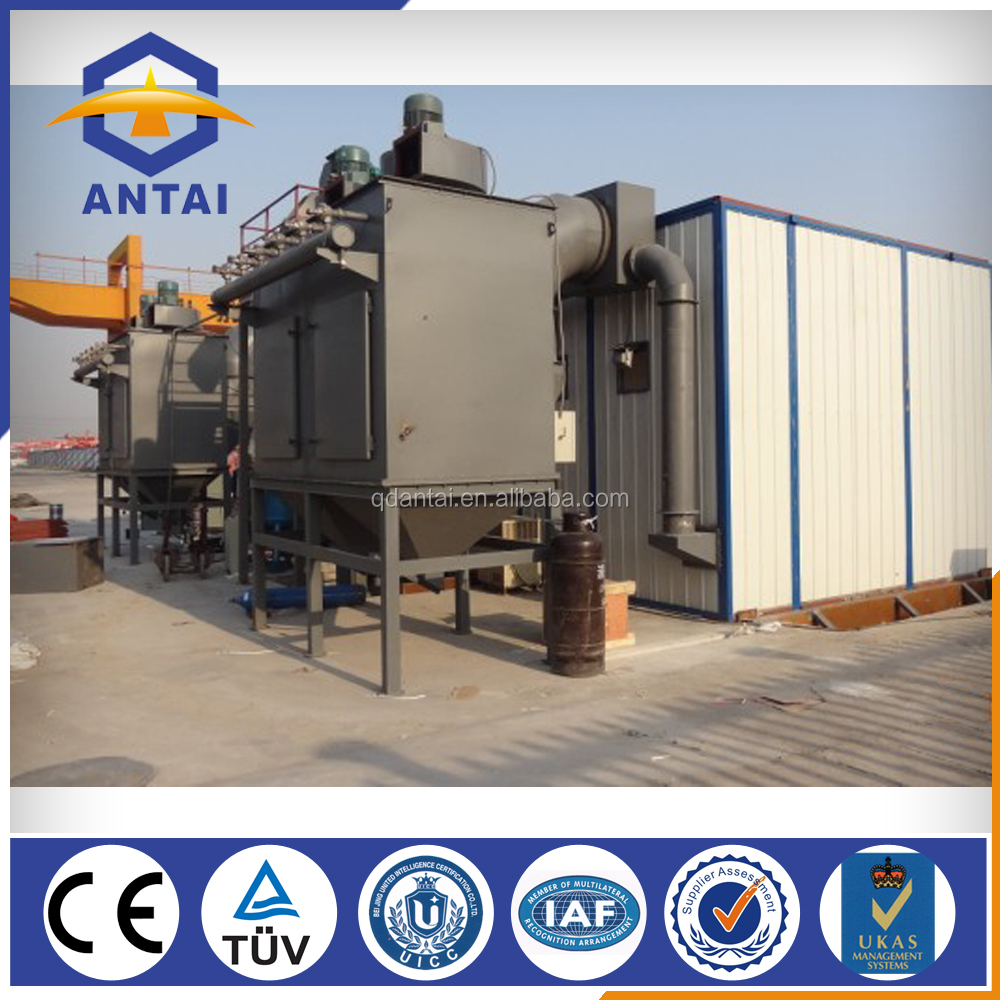cleaning structural or profile steel Q26 series sand blasting machine room