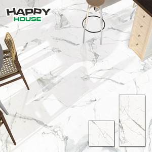 Italian Design Low Price Living Room Floor And Wall Decorative Ceramic White Marble Tile