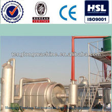 TL Industrial Pyrolysis oil to diesel convert distillation refinery equipment crude oil recycling machine