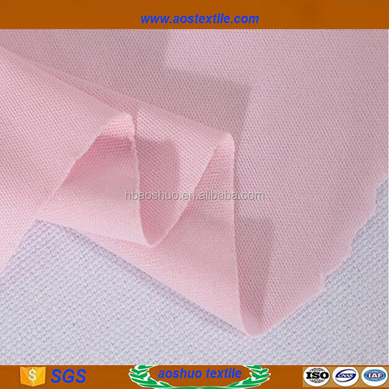 Polyester ponte de roma knits fabric for ladies underwear