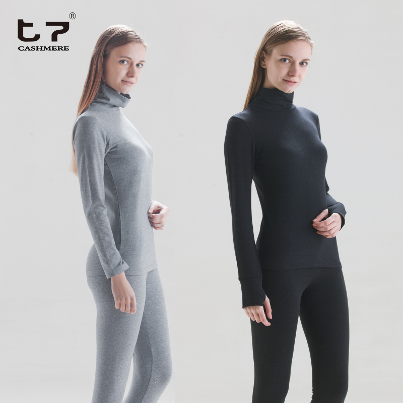 Custom women long sleeve heated inner underwear