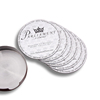 metal coasters with Holder Classic Coasters for Drinks Cup Mat Set of 6pcs ,table cup coaster set