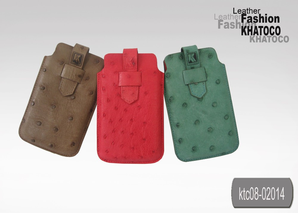 KHATOCO Ostrich Leather Phone Cover 02014
