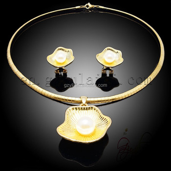 2016 trending products jewelry set /African bead jewellry set/Gold plated jewelry