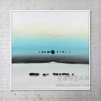 Shenzhen Fine Art Abstract Landscape Watercolor Painting