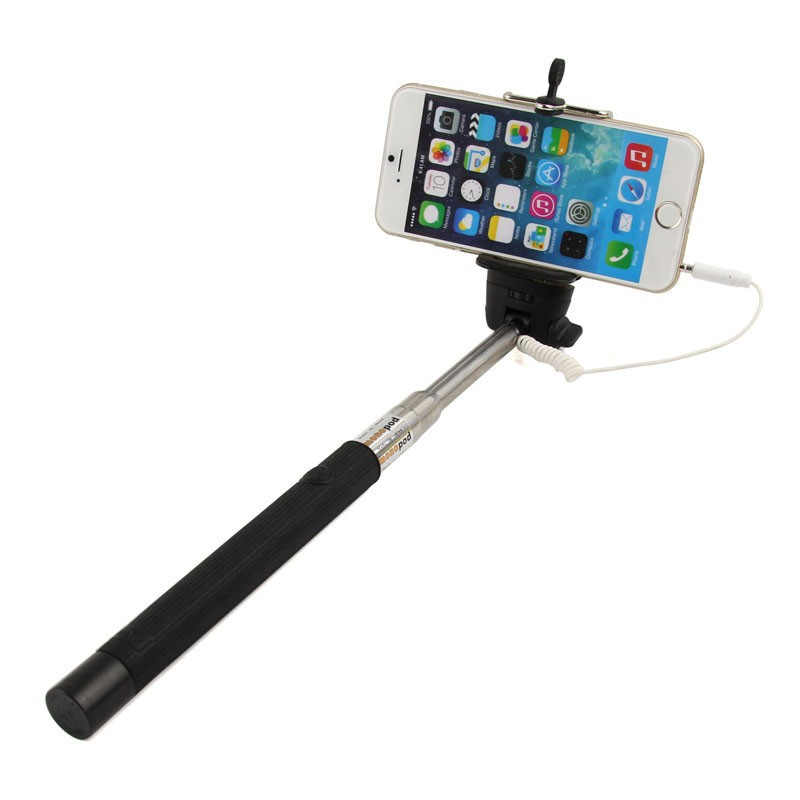 Extendable Self Portrait mobile phone self-timer monopod remote shutter for iphone selfie stick