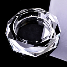 2016 New Design Octagonal Crystal Glass Ashtrays For Sale