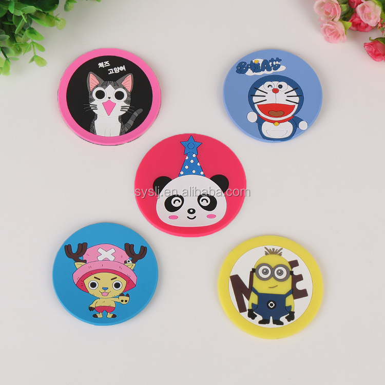 High quality custom 3d custom silicone rubber cup coasters