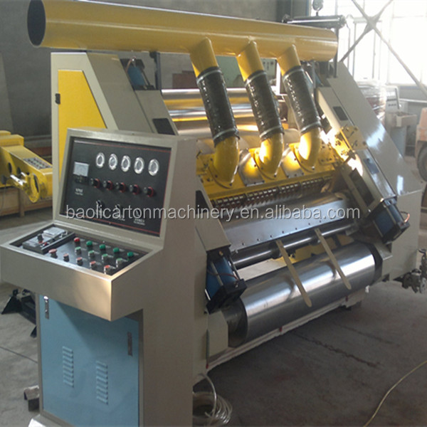 good supplier carton board corrugated single facer machine for best price