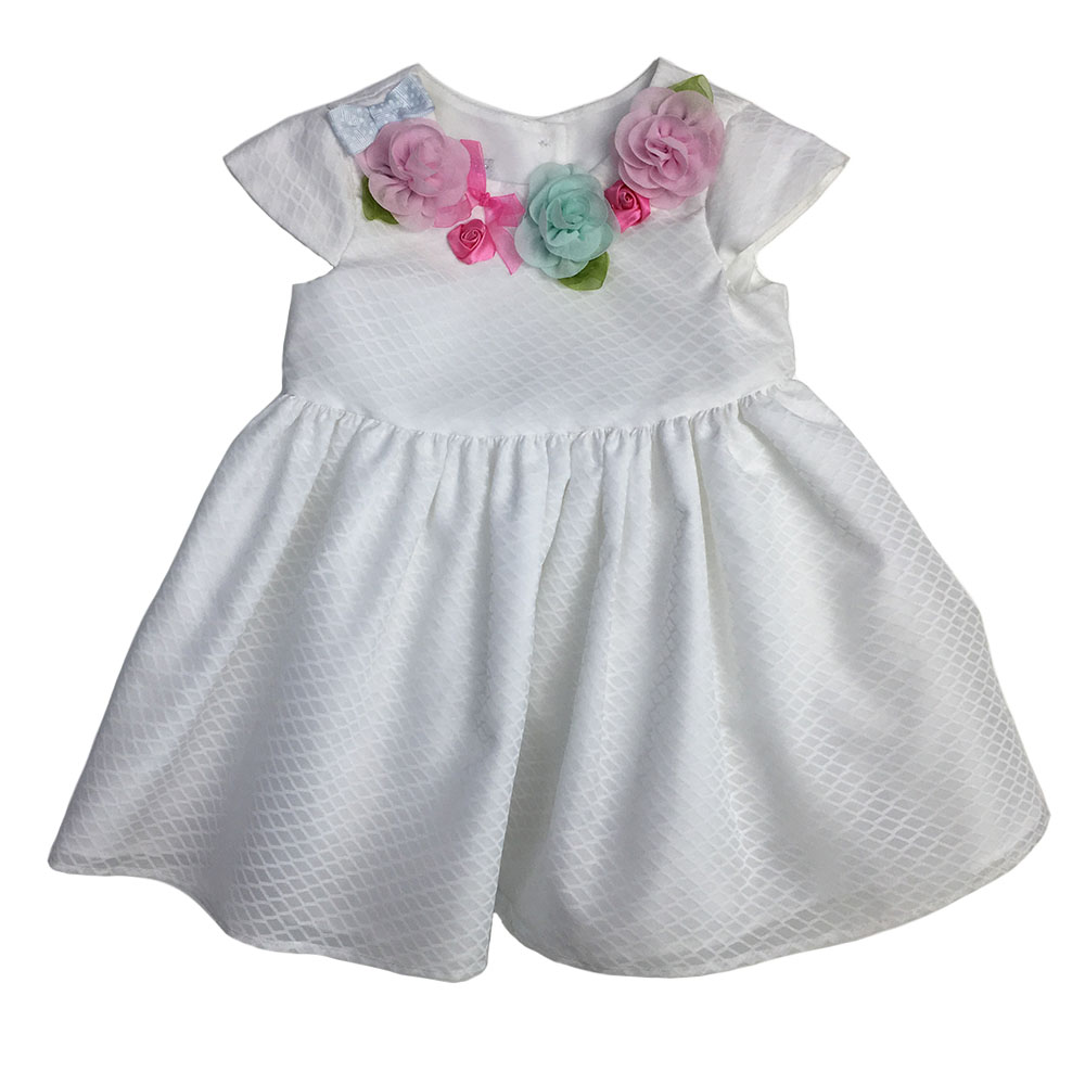 Cap Sleeve Organza baby girls dress designs